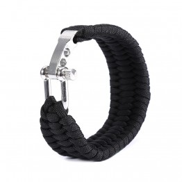 Survival Paracord Bracelet Flint Fire Starter For The Total Outdoor Enthusiast