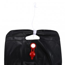 New Self-Heating 5 Gallon PVC Black Bag Outdoor Shower - Solar Powered