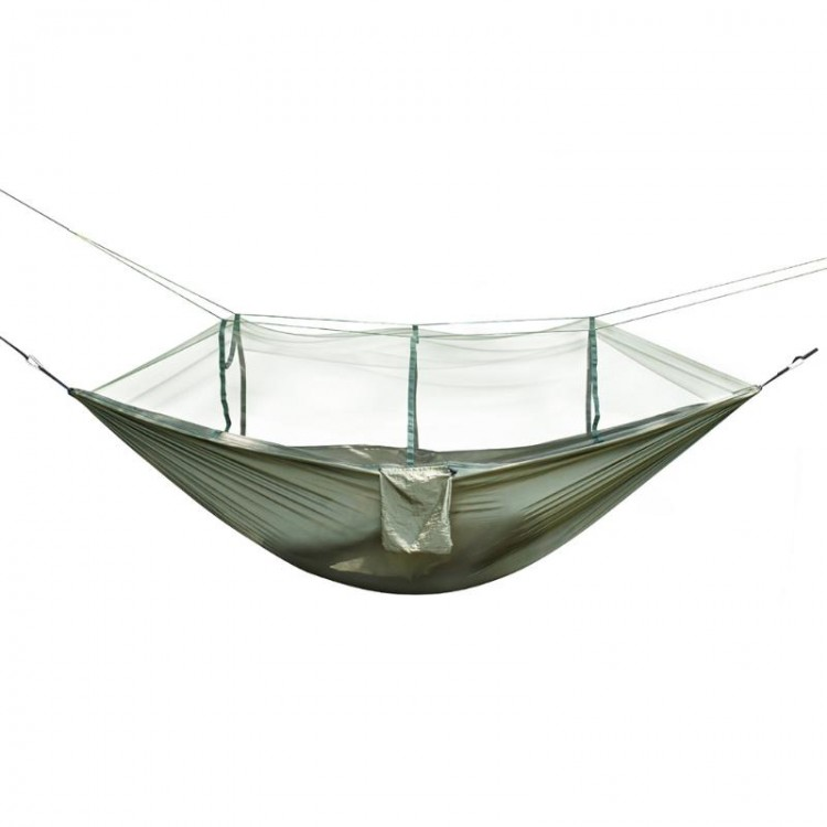 Ultra Light Backpacking Parachute Hammock With Mosquito Net